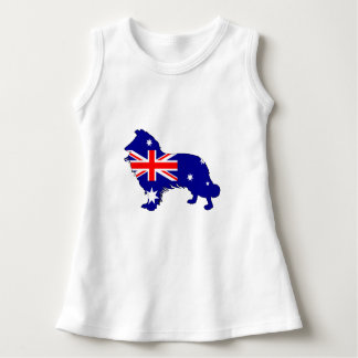 Australian Flag - Border Collie Dress