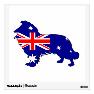 Australian Flag - Border Collie Wall Sticker
