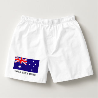 Australian flag boxer shorts underwear for Aussies Boxers