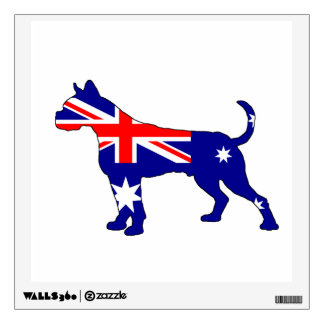 Australian Flag - Boxer Wall Sticker