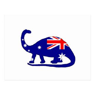 Australian Flag - Brontosaurus Postcard