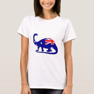 Australian Flag - Brontosaurus T-Shirt