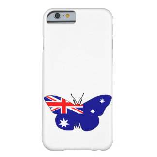 Australian Flag - Butterfly Barely There iPhone 6 Case