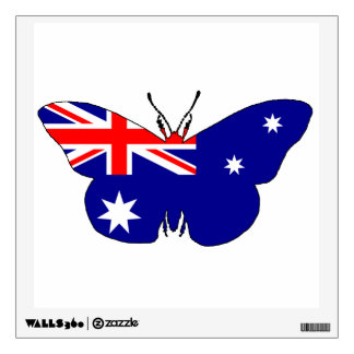 Australian Flag - Butterfly Wall Sticker