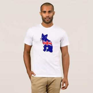 Australian Flag - Cat T-Shirt