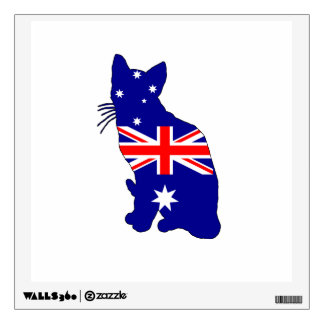Australian Flag - Cat Wall Sticker