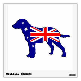 Australian Flag - Chesapeake Bay Retriever Wall Sticker
