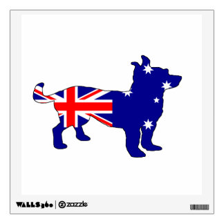 Australian Flag - Chihuahua Wall Decal