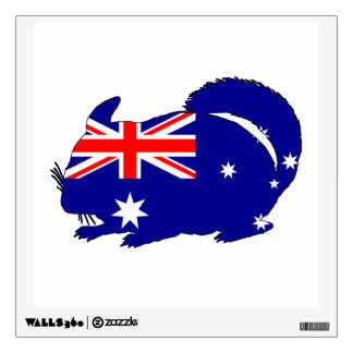 Australian Flag - Chinchilla Wall Sticker