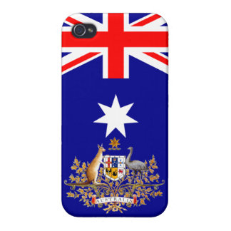 Australian Flag & Coat of Arms iPhone Case Covers For iPhone 4