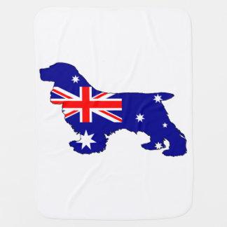 Australian Flag - Cocker Spaniel Baby Blanket