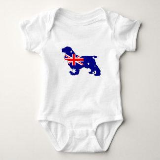 Australian Flag - Cocker Spaniel Baby Bodysuit