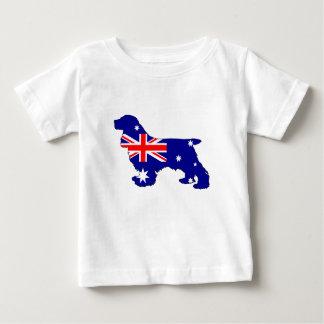 Australian Flag - Cocker Spaniel Baby T-Shirt
