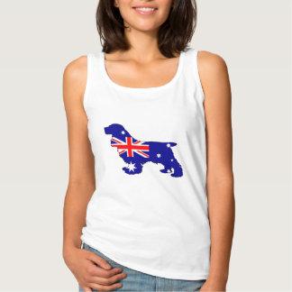 Australian Flag - Cocker Spaniel Tank Top
