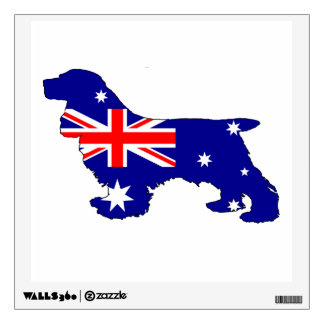 Australian Flag - Cocker Spaniel Wall Sticker