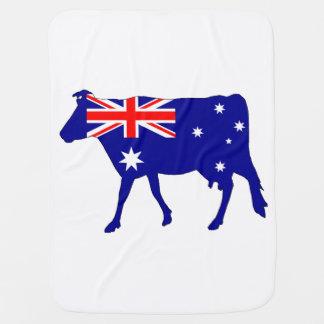 Australian Flag - Cow Baby Blanket