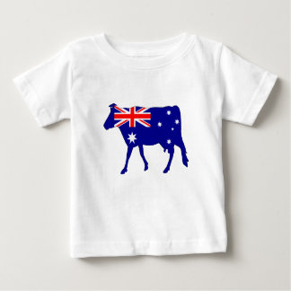 Australian Flag - Cow Baby T-Shirt