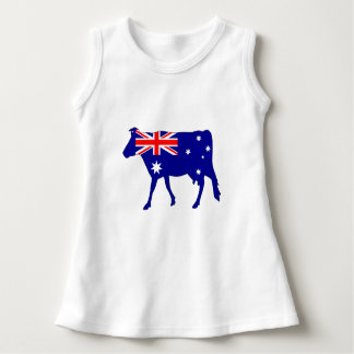 Australian Flag - Cow Dress