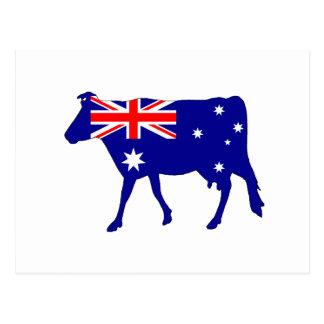Australian Flag - Cow Postcard