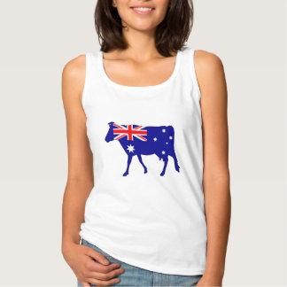 Australian Flag - Cow Tank Top