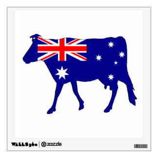 Australian Flag - Cow Wall Decal