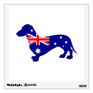 Australian Flag - Dachshund Wall Sticker