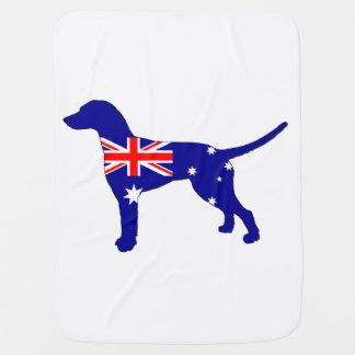 Australian Flag - Dalmatian Baby Blanket