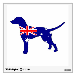 Australian Flag - Dalmatian Wall Decal