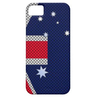 Australian Flag Design Carbon Fiber Chrome Style Case For The iPhone 5