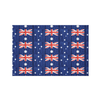 australian flag design Thunder_Cove blue Canvas Print