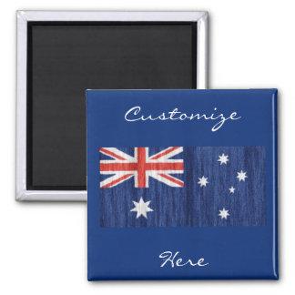 australian flag design Thunder_Cove blue Square Magnet