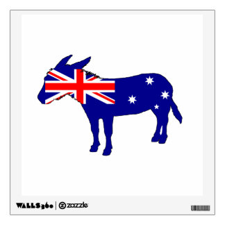 Australian Flag - Donkey Wall Sticker