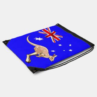 Australian flag drawstring bag