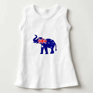 Australian Flag - Elephant Dress