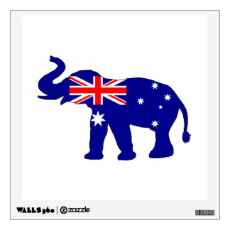 Australian Flag - Elephant Wall Decal