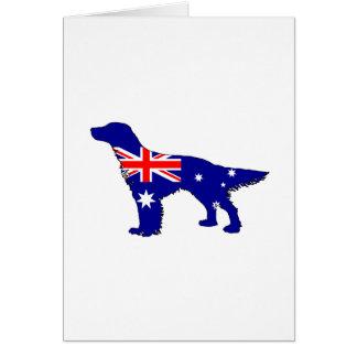 Australian Flag - English Setter Card
