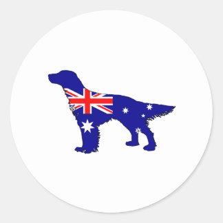 Australian Flag - English Setter Round Sticker