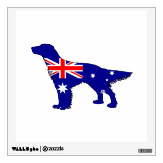 Australian Flag - English Setter Wall Decal