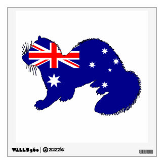 Australian Flag - Ferret Wall Decal