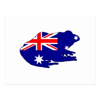 Australian Flag - Frog Postcard