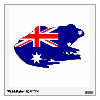 Australian Flag - Frog Wall Sticker