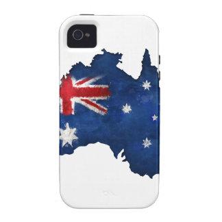 Australian Flag Graffiti Case-Mate iPhone 4 Cover