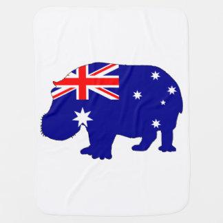 Australian Flag - Hippopotamus Baby Blanket