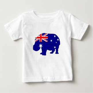 Australian Flag - Hippopotamus Baby T-Shirt