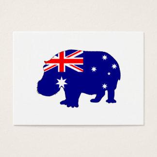 Australian Flag - Hippopotamus Business Card