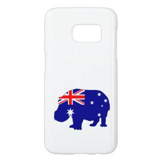 Australian Flag - Hippopotamus Samsung Galaxy S7 Case