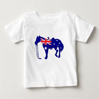 Australian Flag - Horse Baby T-Shirt