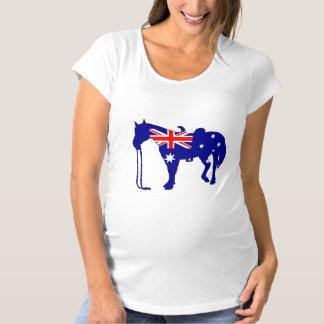 Australian Flag - Horse Maternity T-Shirt