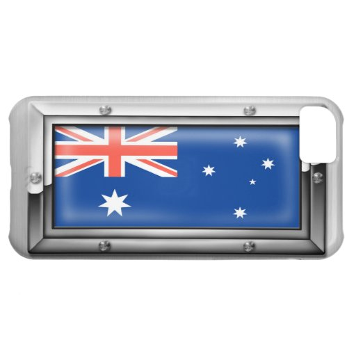 Australian Flag in a Steel Frame iPhone 5C Covers
