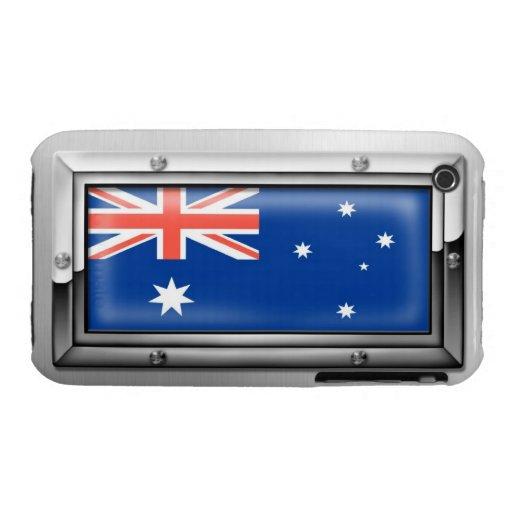 Australian Flag in a Steel Frame iPhone 3 Case-Mate Case
